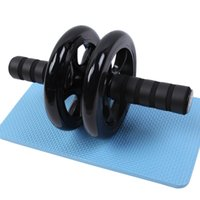 rolos de duas rodas venda por atacado-Domestic Mute Abdominal Rollers Dispositivo Man Two Wheeled não escorregar saudável Fitness Equipment Muscle Prática Hot Sale 13ac Ww