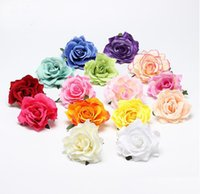 Wholesale bridal clips brooches for sale - Group buy Wedding Bridal Rose Flower Hair Clip Flamenco Dancer Pin up Flower Brooch Bridesmaid Beach Party Vacation Hairpin Accessories