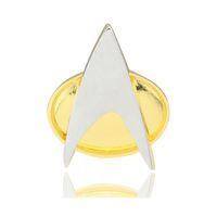 ingrosso spilla stella pin-Cosplay Star Trek Distintivo Star Trek The Next Generation Communicator Distintivo Distintivo Pin Spilla Lega in metallo zinco Halloween Prop