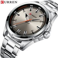 Wholesale curren watch band for sale - Group buy Reloj Hombres Top CURREN Gray Watches Mens Quartz Business Wristwatch Fashion Clock Classic Steel Band Watch