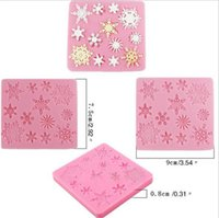 Wholesale fondant decoration mold resale online - Hot Home Bar D christmas decorations snowflake Lace chocolate Party DIY fondant baking cooking cake decorating tools silicone mold