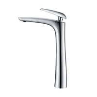 Wholesale painting faucets white for sale - Tall Matte Black Brass Washbasin Faucet Bathroom Sink Water Mixer Hot And Cold Water Tap Chrome Plated White Painted