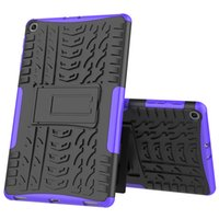 Wholesale white galaxy tablet resale online - Rugged Hybrid Case armor anti shock Cover for Samsung Galaxy Tab A Case T510 T515 SM T510 SM T515 Camera Tablets