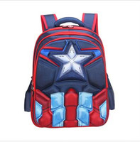 Wholesale captain america backpacks resale online - Hot High Quality EVA D Captain America children school bags Boy Spiderman school Backpack Suitable for years old kids bag