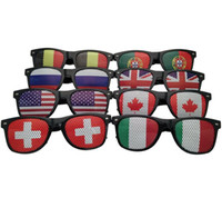 Wholesale mirror flags for sale - Group buy 20Pcs World Cup Football Festival Fans Sunglasses For National Flag Bar Party Fans Sun Glasses Athletic Outdoor Eyewear