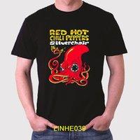 pimentão vermelho venda por atacado-Red Hot Chili Peppers Silverchair Banda de Rock dos homens T-Shirt Preta Tamanho S Para 3XL Impresso T Shirt Homens de Manga Curta