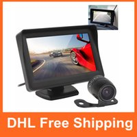Wholesale waterproof camera tv resale online - 4 Inch Tft Lcd Car Rearview Monitor Tv Lines Ccd Backup Waterproof Parking Camera Rear View Camera Cmo _50k