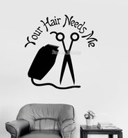 Wholesale living hair resale online - Hair Salon Stylist Vinyl Wall Decals Quote Hairdresser s Living Room Large Hall Decor Wall Art Stickers Wallpaper Modern
