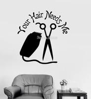 ingrosso capelli moderni-Parrucchiere Stilista Vinile Stickers murali Citazione Parrucchiere Soggiorno Grande Hall Decor Wall Art Stickers Wallpaper Modern