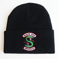 Wholesale Riverdale Cosplay Hats Beanie Cap Winter Knitted Embroidery Hat Archie Betty Veronica Women Men Adult