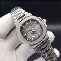 hombre reloj luna al por mayor-10 colores de calidad superior relojes Nautilus 5726 / 1A-001 mecánico automático hombres reloj fase lunar zafiro relojes de pulsera de acero inoxidable 40.5 mm