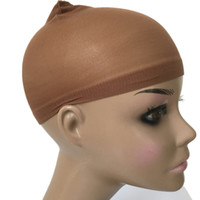 Wholesale caps for wigs for sale - Group buy Deluxe Wig Cap Pieces HairNet For Wigs Black Brown Blonde Color Weaving Cap for Wearing Wigs Snood Nylon Mesh Cap