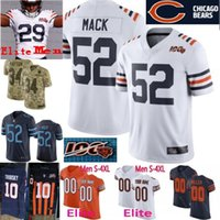4xl frauen großhandel-S-4XL Elite 100. Saison PATCH Bären Männer Jugend Frauen Chicago Urlacher Hicks Montgomery Smith Trubisky Payton Limite Trikot