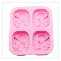 ingrosso costruzioni di giocattoli di plastica-Stampo per dolci Utensili da cucina Silicone A forma di angelo Decorare Fare caramelle Fondente Sapone all'argilla Adatto per fare una torta al cioccolato fondente