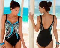 reizvolle frauen badebekleidung ein stücke großhandel-2019 Backless Badeanzug Printed Bikini Bathing Womens Sexy Swimwear New Schwimmen Badeanzüge High Cut Damen Monokini