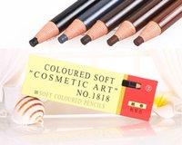 kalıcı makyaj kaş kalemi toptan satış-12pc Kaş Kalemi Renkli Yumuşak Kozmetik Sanat Kalıcı Makyaj Su geçirmez Dövme