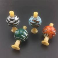 tapas para las pelucas al por mayor-Nuevo estilo EE. UU. Color 28OD Wig Wag Glass Bubble Carb Cap Con Portable Glass Color Reversal Carb Caps para XL Quartz Banger Nails
