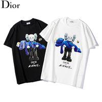 muñecas deportivas al por mayor-19ss new D home Dior Kaws muñeca de dibujos animados conjunta Sesame Street hombres y mujeres moda deportiva marca de manga corta camiseta T