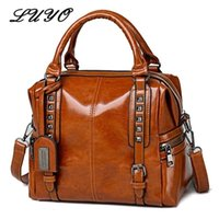 el çantası deri orijinal markalı toptan satış-Yeni Bağbozumu Hakiki Deri Yağ Mumu Lüks Çanta Kadın Çanta Tasarımcısı Modis Omuz Messenger Çanta Ünlü Marka Nötr FemaleMX190824