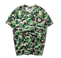 mélange de coton et polyester achat en gros de-Casual T-Shirt Hommes Designer Vêtements Shirt Vert Taille S-XLxl Coton Mélange Col Rond Manches courtes Cartoon Imprimer