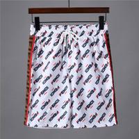 мужские атласные брюки оптовых-19ss европейский париж американский звездный бренд мужской спортивной шорты повседневная мужская и женская одежда пляжный ремень атласные штаны