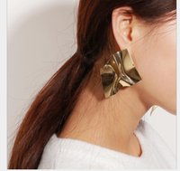 ingrosso grandi orecchini di conchiglia-Gioielli esagerato personalità creativa tidal Orecchini geometricamente irregolare temperamento specchio chiodi grande orecchio