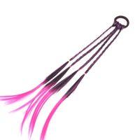 синие ленты для волос оптовых-Эластичные резинки для волос, аксессуары для волос, парик девушки, веревка для волос Фиолетовый, розово-красный, красный, синий плетеный головной убор