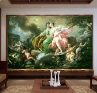 Wholesale mediterranean art oil resale online - Custom Size D Photo Wallpaper Living Room Mural European Art Body Oil Painting Picture Sofa TV Backdrop Home Decor Creative Hotel Wallpaper