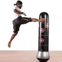 сандалии фитнес оптовых-Тренировки Фитнес Бокс Боксерская груша Надувные газированные ирригационные пески Семейные развлечения Vent Fight Ground Kick Sandbag
