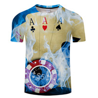 Wholesale wholesale play online - Brand Poker T shirt Playing Cards Clothes Shirts Las Vegas Tshirt Clothing Tops Men Funny d t shirt Asian size s xl