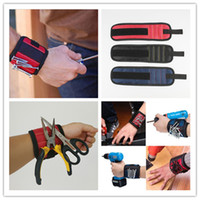 Wholesale Magnetic Wristband Pocket Tool Belt Pouch Bag Screws Holder Holding Tools Magnetic bracelets Practical strong Chuck wristToolkit DHL Free