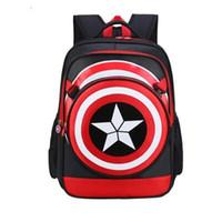 tuval desenli okul sırt çantası toptan satış-Sınır ötesi Sıcak Yeni Animasyon Desen İlköğretim Okulu Sırt Çantası Işık Tuval Rahat Çanta Sunshine Yakışıklı Çocuk Sırt Çantası 2 Renk