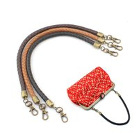 Wholesale hangers china for sale - Group buy Pu Leather Rope Bag Handle Purse Hanger Rope Handle Bag Part Coin Purse Locker Pattern Rope Strap Purse Handle China Supply