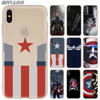 Wholesale iphone 4s cases kickstand for sale – best Phone Cases Silicone soft Cover for iPhone XI R X XS Max XR S Plus S SE Captain America