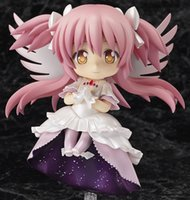 Wholesale puella figure resale online - Cute Nendoroid Puella Magi Madoka Magica kaname madoka PVC Action Figure Collection Model Toy CM KC087 figma A