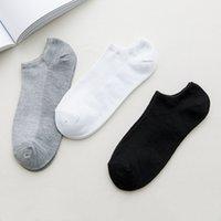 chaussettes colorées pour hommes achat en gros de-Mode Hommes Noir Chaussette Printemps Eté Nouveau Hommes Femmes de haute qualité Coton Sock Hommes Bateau Sock Taille