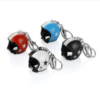 автомобильный кулон оптовых-Motorcycle Helmet Key Ring Knight Safety Helmet Keychain Moto Gifts Pendant Key Holder Automobiles Car Accessories