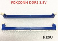 Wholesale slotted pin for sale - Group buy DDR2 P Pin Pin V memory slot socket for desktop computer