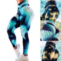 ingrosso sesso yoga-Pantaloni di yoga stampati goccia d'acqua Pantaloni di cucitura di moda donna Leggings di moda Donna Pantaloni sportivi slim lunghi di sesso LJJT408