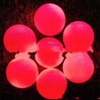 bola de golfe levou venda por atacado-Led bola de golfe Luz Golfballs piscando Bolas Cores Mix ativado Luminous Noite Outdoor Training Prática Lightweight 7zyf1