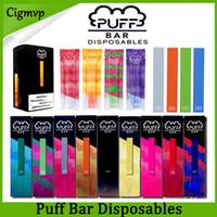 cosse achat en gros de-Puff Bar à usage unique appareil Pod Starter Kit batterie 280mAh de cartouche Vape Vider Pen avec code de sécurité PK Eon Posh MR Brouillard