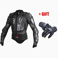 Wholesale gear body armor online - Moto Motorcycle Racing full Body Armor jackets Protective Gear motorcorss Jacket full finger moto protective gear gloves
