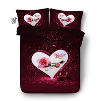 Wholesale lilac bedspreads for sale - Group buy 150x200CM D Heart Love Rose Duvet Cover Bedding Sets Pillow Shams Coverlet Wedding Bed Cover Galaxy Bedspread NO Quilt Girls