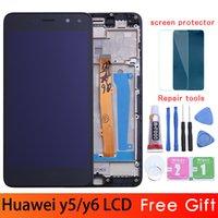 iphone blanco 4g al por mayor-Oro / blanco / negro para Huawei Nova Young 4G LTE / Y6 2017 / Y5 2017 Pantalla LCD + Asamblea de digitalizador de pantalla táctil MYA-L11 MYA-L41