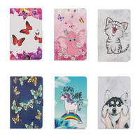Discount cute leather ipad mini cases Leather Wallet Case For Ipad Pro 11 12.9'' 2020 Unicorn Flower Butterfly Dog Girl Elephant Lion Cartoon Cute Lovely Holder Flip Cover Purse