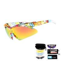 очки защитные очки солнцезащитные очки велосипедный велосипед оптовых-Поляризованные очки для велоспорта 5Lens Bike Outdoor Sport Велосипедные очки