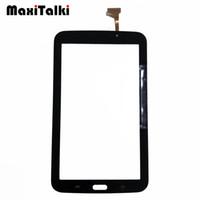"""цены на панель iphone lcd оптовых-10 шт. / лот высокое качество 7.0 """" для Samsung Galaxy Tab 3 7.0 SM-T210 T210 сенсорный экран Digitizer переднее стекло датчик панели"""