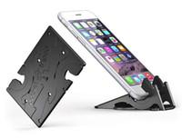 tripé dobrável venda por atacado-Bolso Cartão Tripé dobrável Suporte para telefone Folding Mobile Phone Suporte Mini Card Suporte de montagem para o iPhone Samsung Xiaomi ângulo ajustável