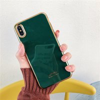 Wholesale electroplate mobile phone case online – custom Electroplated Emerald Green Mobile Phone Case Iphone pro Cell Phone Cases X XS XR XS MAX Water Resistant Dirt resistant