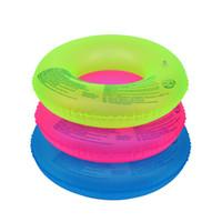 tubos de natacion al por mayor-70 cm 90 cm unisex anillo de natación inflable fluorescente natación neumático tubo flotador piscina playa ayuda de natación herramientas de deportes acuáticos al aire libre